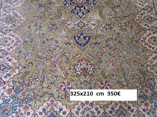 grand tapis d orient laine mains de  dimensions  ..........................  325 x210 cm prix 350 €  tours chinon paris