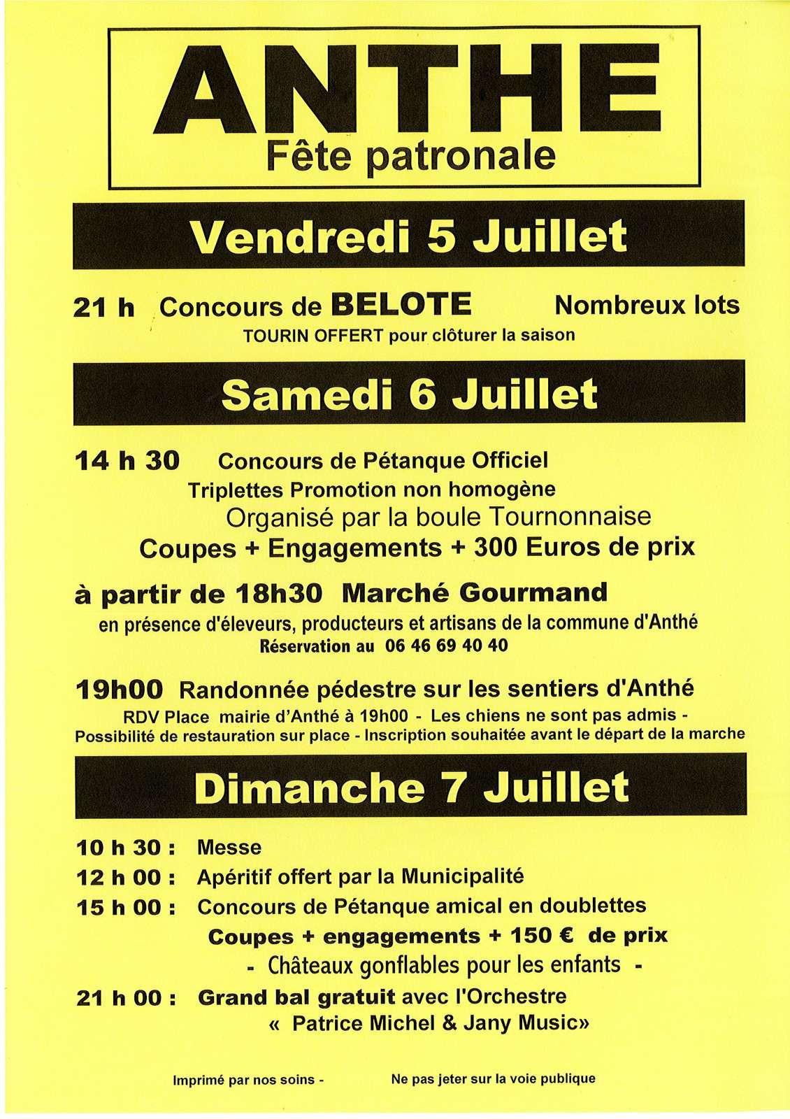Anthé : Première fête de l'été en Tournonnais