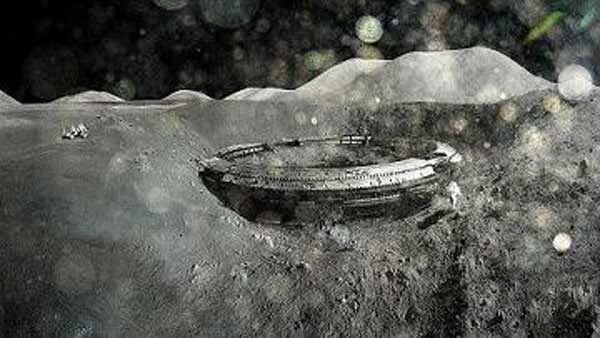 OVNI : De Gros Objets Seraient Positionnés Derrière La Lune ! Un témoin rompt le silence