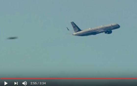 Le 19 janvier 2017 avant  l'investiture de Donald Trump un Ovni est passé très près de son avion