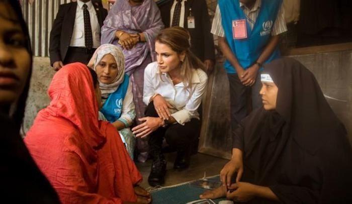 """La reine Rania de Jordanie : """"le monde est incapable de voir les musulmans comme des victimesˮ"""