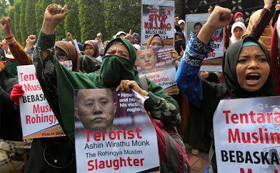 Manifestation pour les Rokingyas en Indonésie