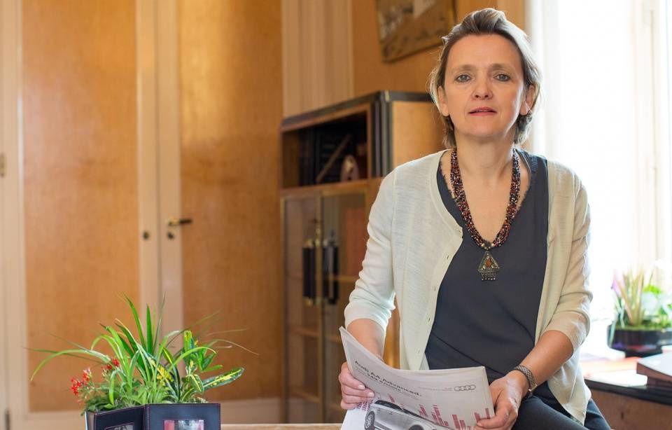 Florence Berthout, en 2014, dans son bureau — ROMUALD MEIGNEUX/SIPA