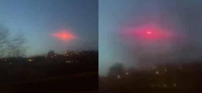 Un objet étrange émettant une lueur rouge s'est déplacé dans le ciel de Bradford, Royaume-Uni
