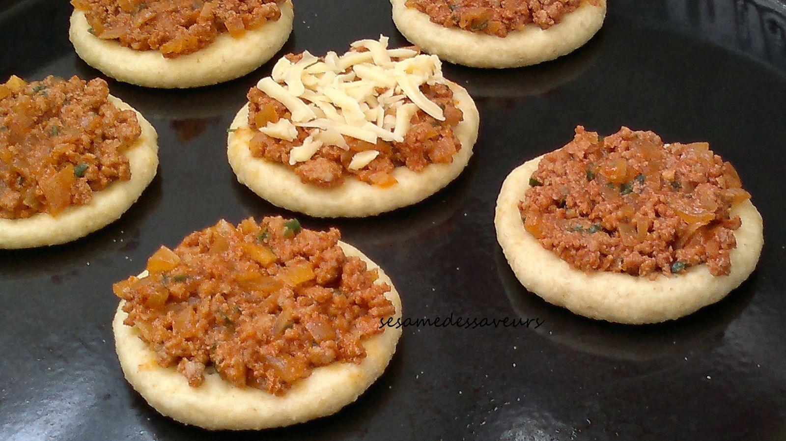 Mini-pizzas à la viande