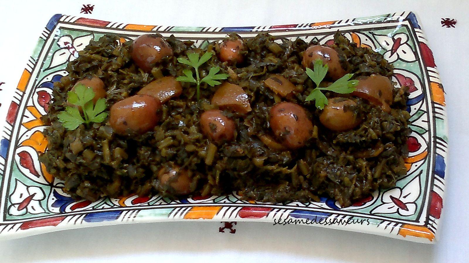 Salade marocaine de pourpier (Rejla)
