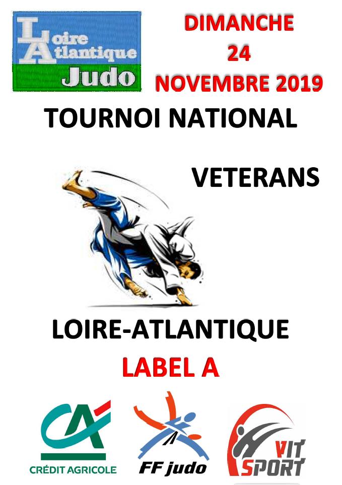 6ème Tournoi Vétérans de Loire Atlantique Label A - 24 novembre 2019 - Nantes