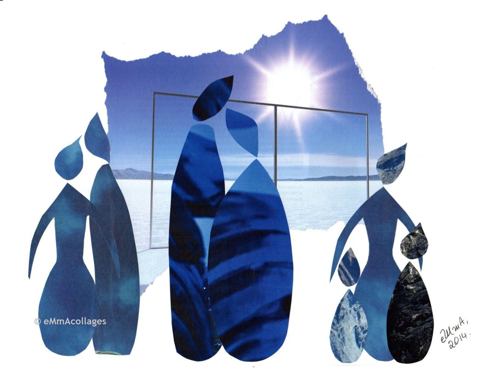 """Les collages d'eMmA MessanA, collage """"Evocation"""", pièce unique © eMmA MessanA"""