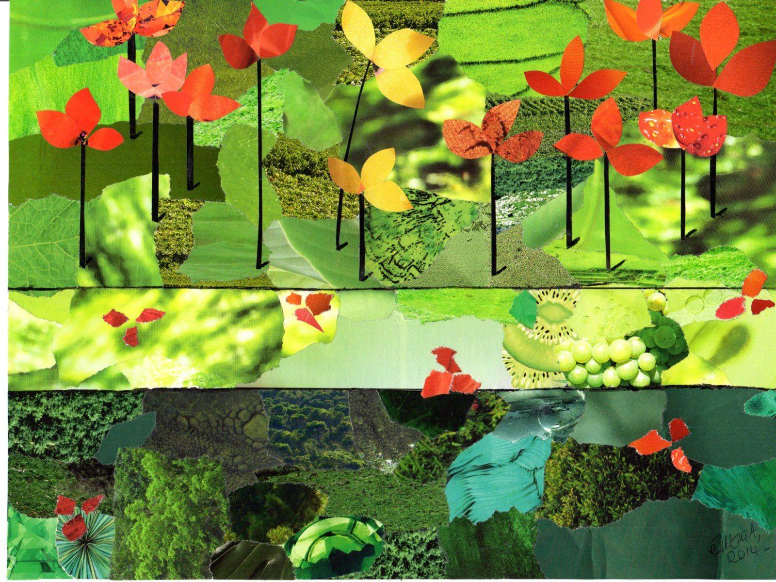 """Les Collages d'eMmA MessanA """"Les gardiennes"""", pièce unique © eMmA MessanA"""