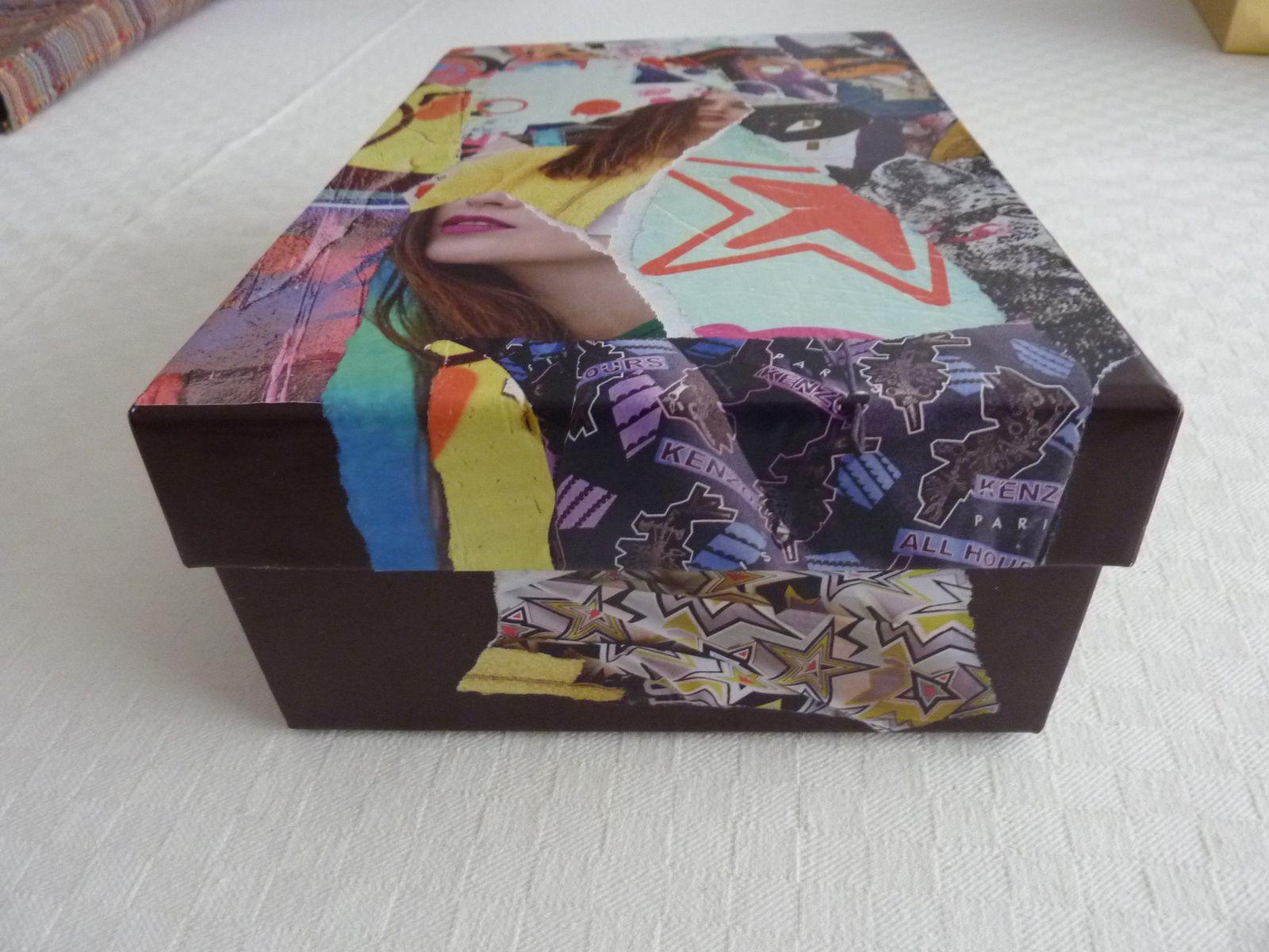 "Les Collages d'eMmA MessanA, pièce unique ""Box graffiti"" © eMmA MessanA"