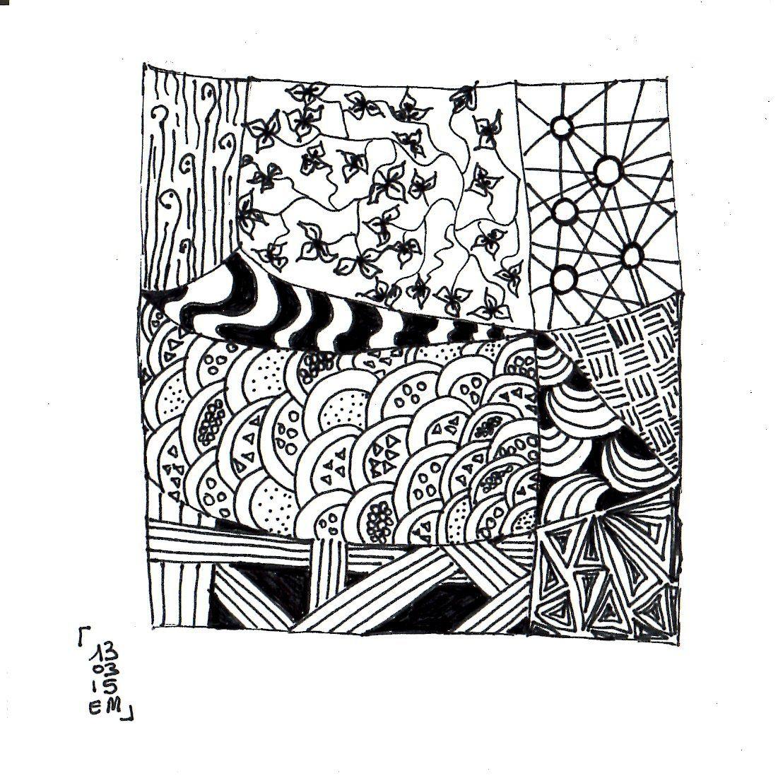 Zentangle® #9 le 13 mars 2015 emma messana