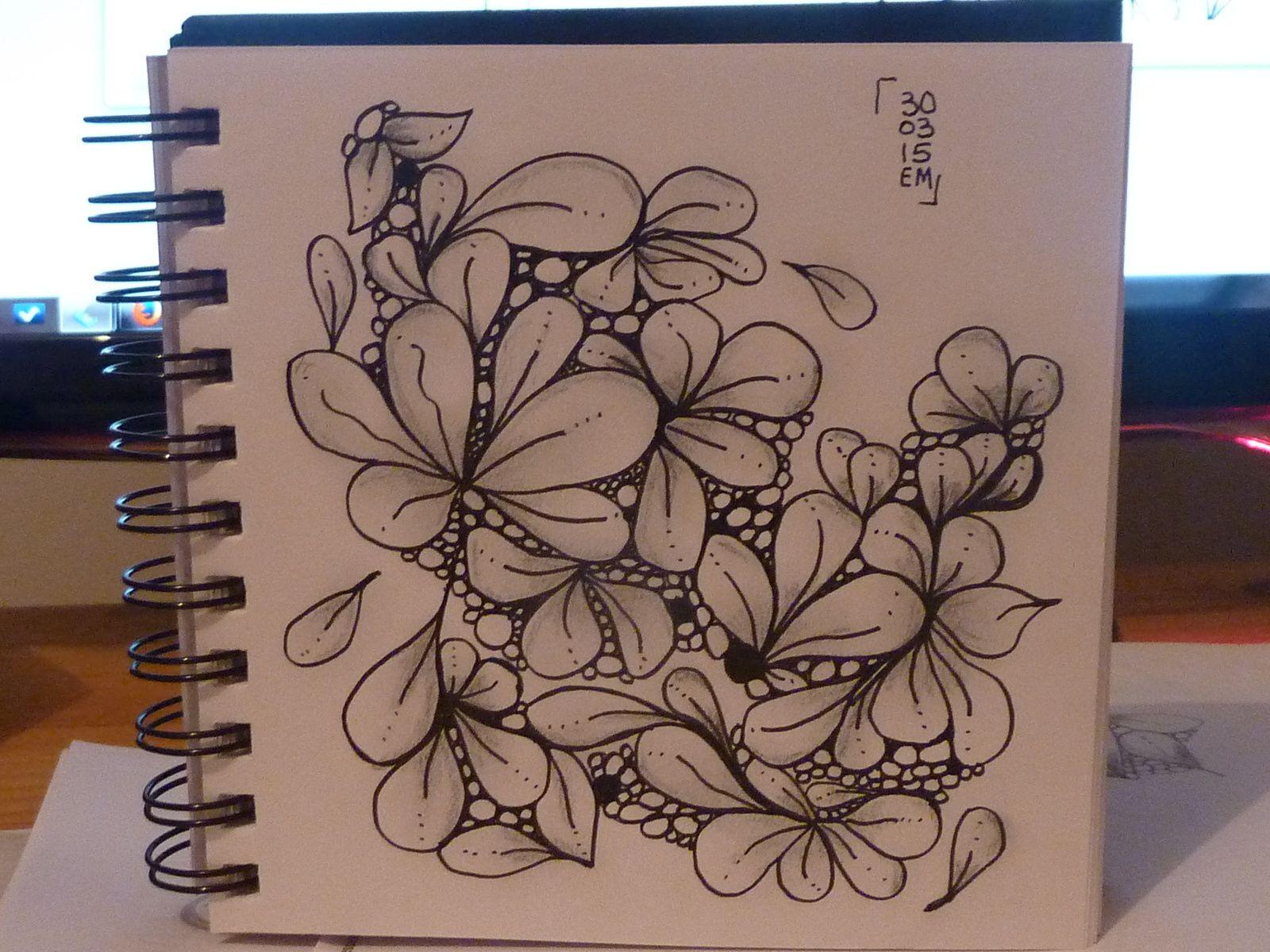 Zentangle® #20 le 30 mars 2015 emma messana