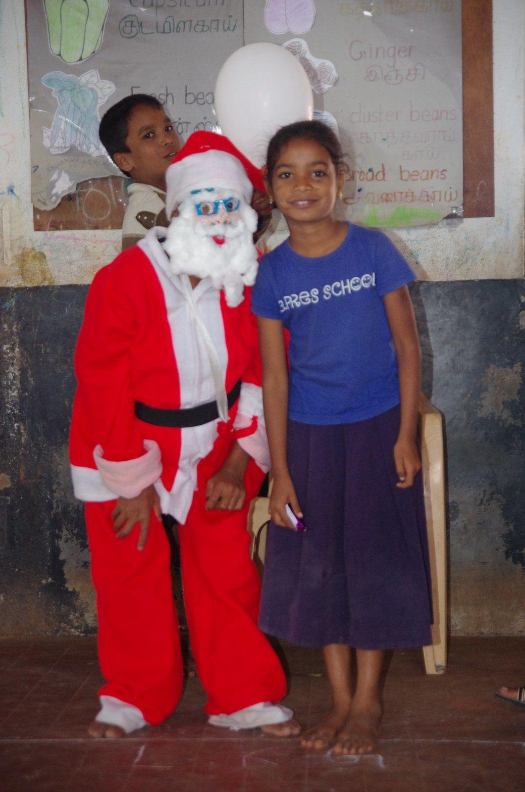 Deivayani et le Père Noël parti dans le Tamil Nadu !