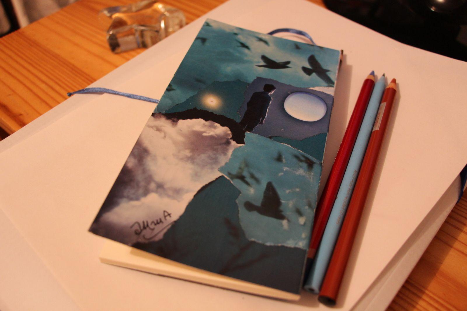Les Collages d'eMmA MessanA, petit carnet, pièce unique © eMmA MessanA