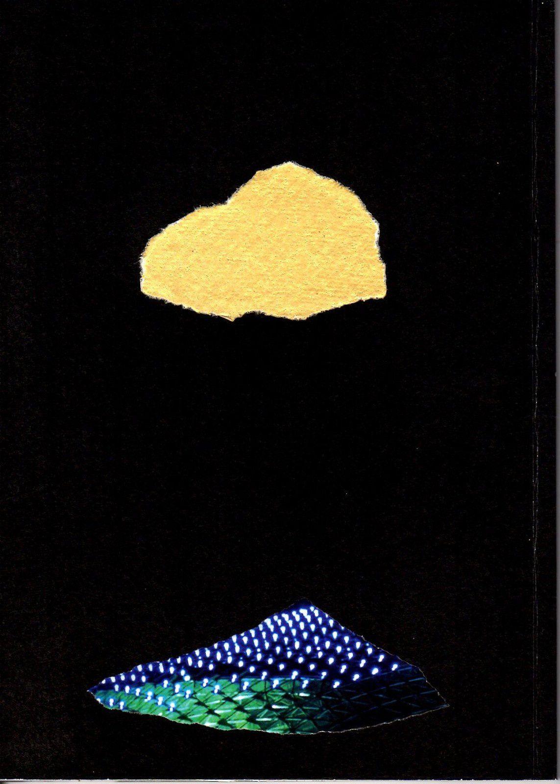 """Les Collages d'eMmA MessanA, carnet """"C'est beau paris la nuit"""", pièce unique (couverture verso) © eMmA MessanA"""