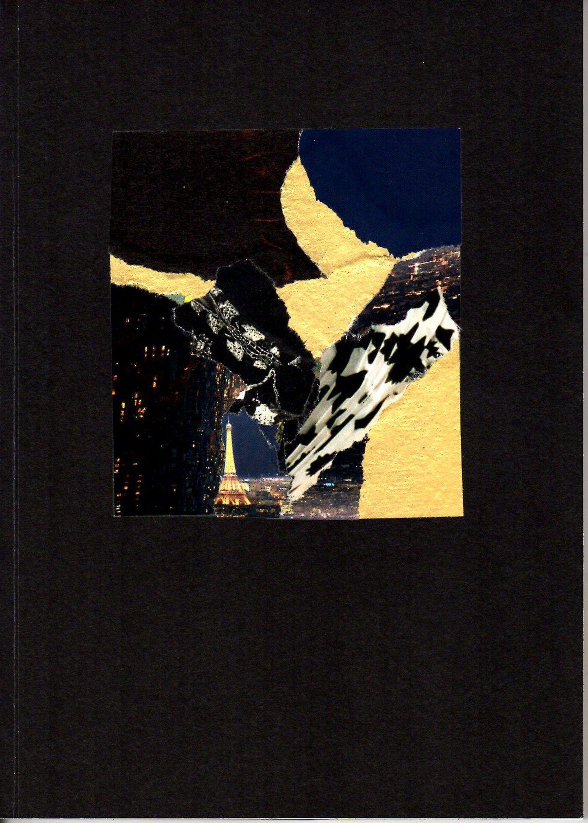 """Les Collages d'eMmA MessanA, carnet """"C'est beau paris la nuit"""", pièce unique (couverture recto) © eMmA MessanA"""