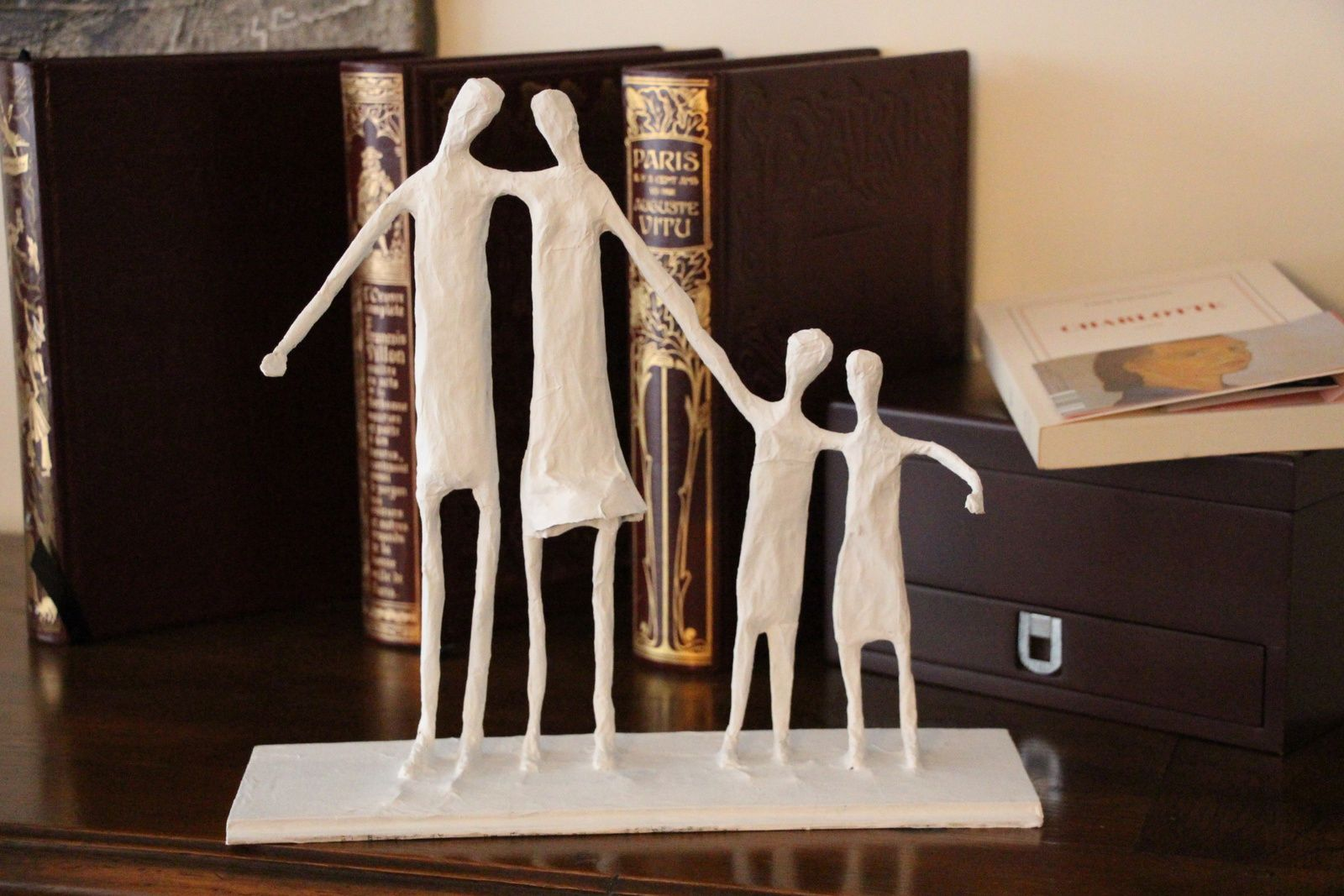 """Ebauche """"Quatuor"""", sculpture papier mâché, pièce unique eMmA MessanA"""