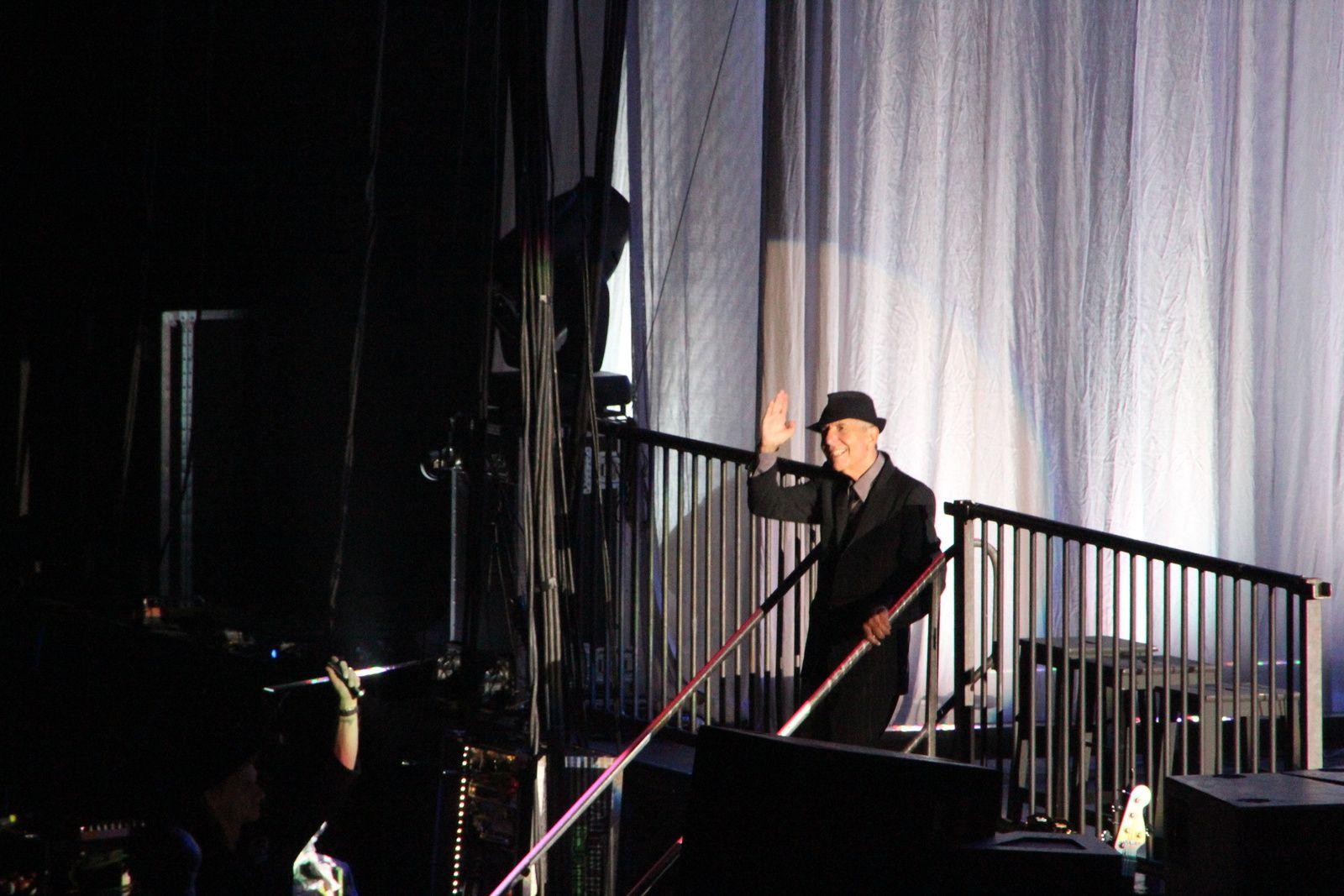 Paris-Bercy, 18 juin 2013. Unique concert de Leonard Cohen auquel j'ai assisté...