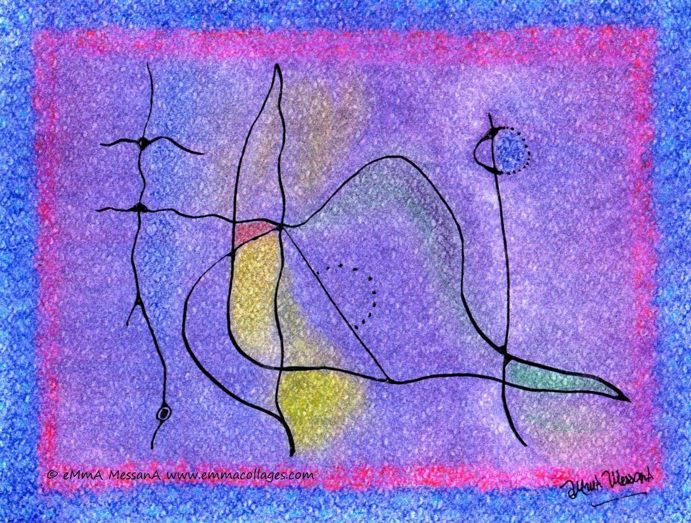 "Les Collages d'eMmA MessanA, ""Variables"", pièce unique © eMmA MessanA"