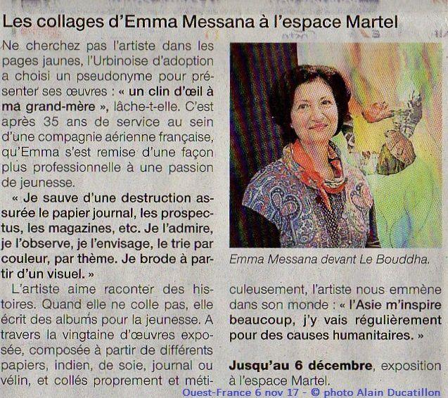 expo eMmA MessanA à l'Espace Martel à Challans