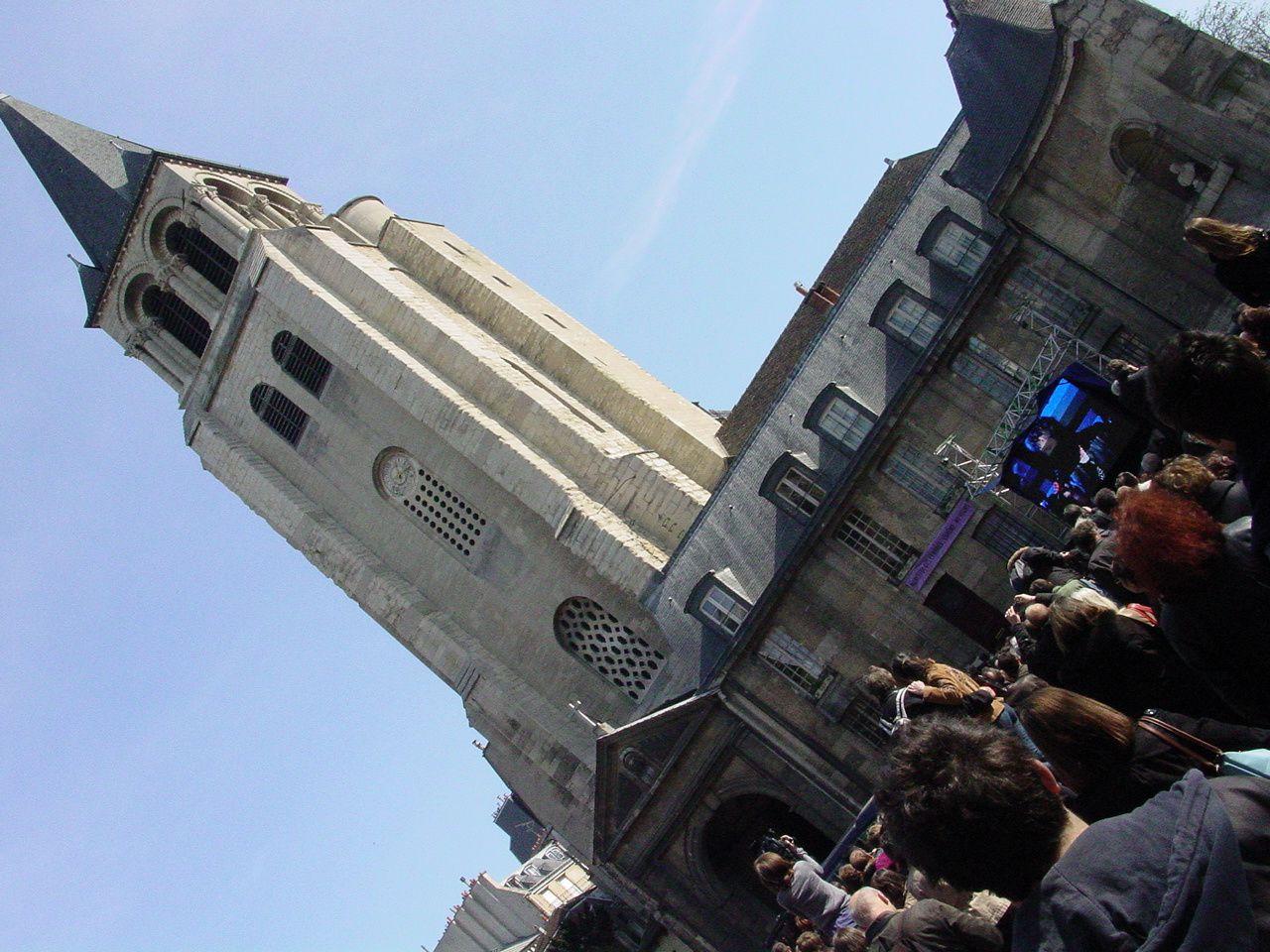 20 mars 2009 parvis de l'Église de Saint-Germain-des Prés