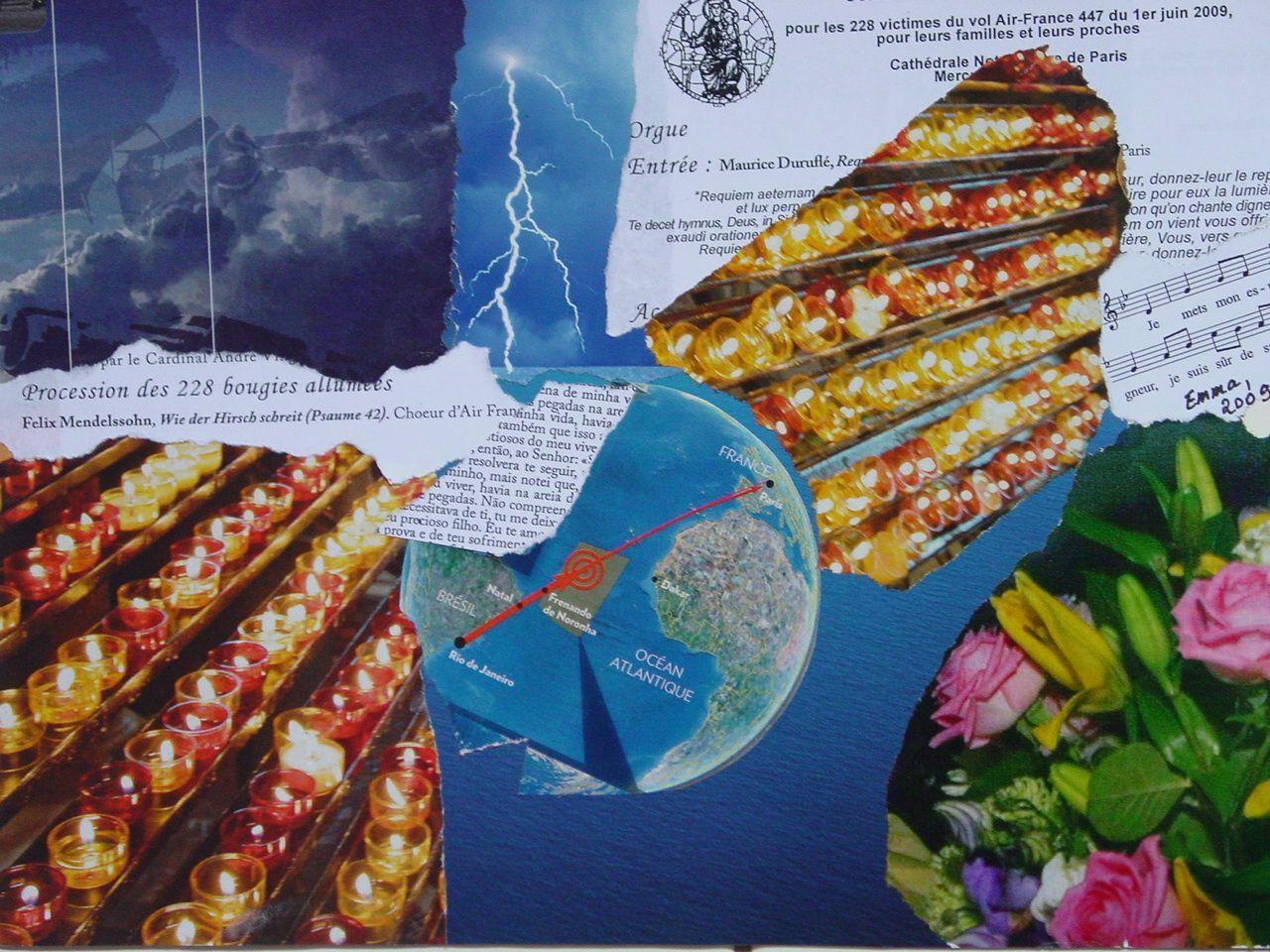 """Les Collages d'eMmA MessanA, collage N°82 """"Les 228 bougies"""", pièce unique © eMmA MessanA"""