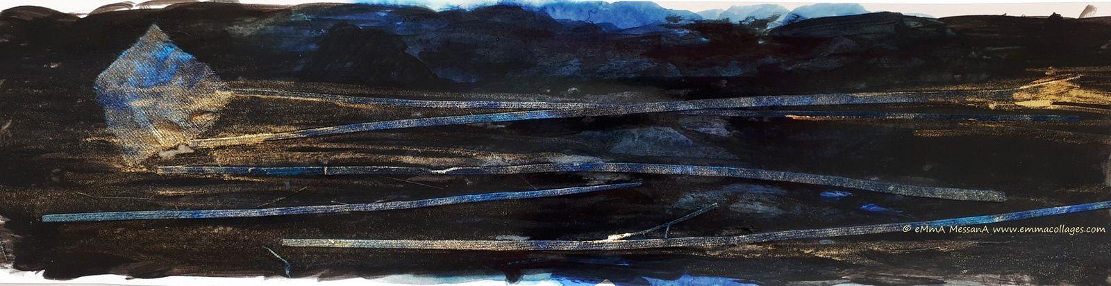 Les Collages d'eMmA MessanA, collage N° 414 Hommage à NF, pièce unique © eMmA MessanA
