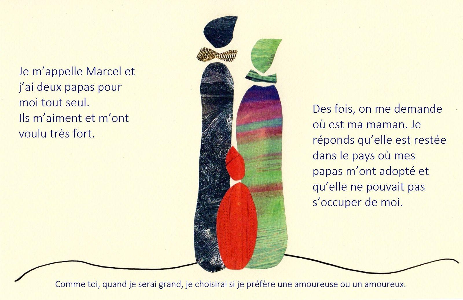 """L'une des illustrations de l'histoire """"Je m'appelle Marcel"""". Album jeunesse """"Et toi, c'est quoi ta couleur ?"""" © eMmA MessanA"""