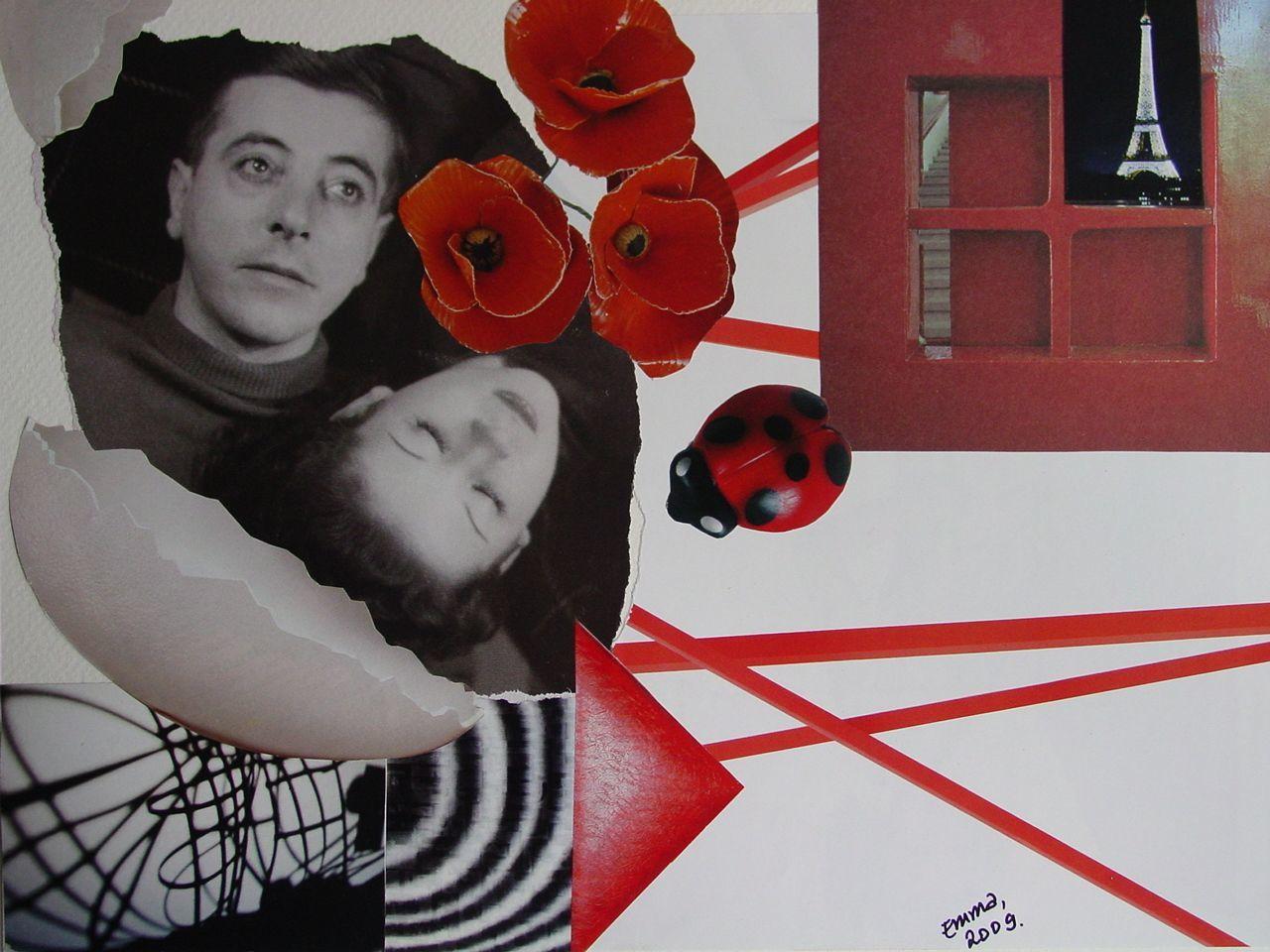 """Les Collages d'eMmA MessanA, collage N°62 """"Du fragile"""", pièce unique © eMmA MessanA"""