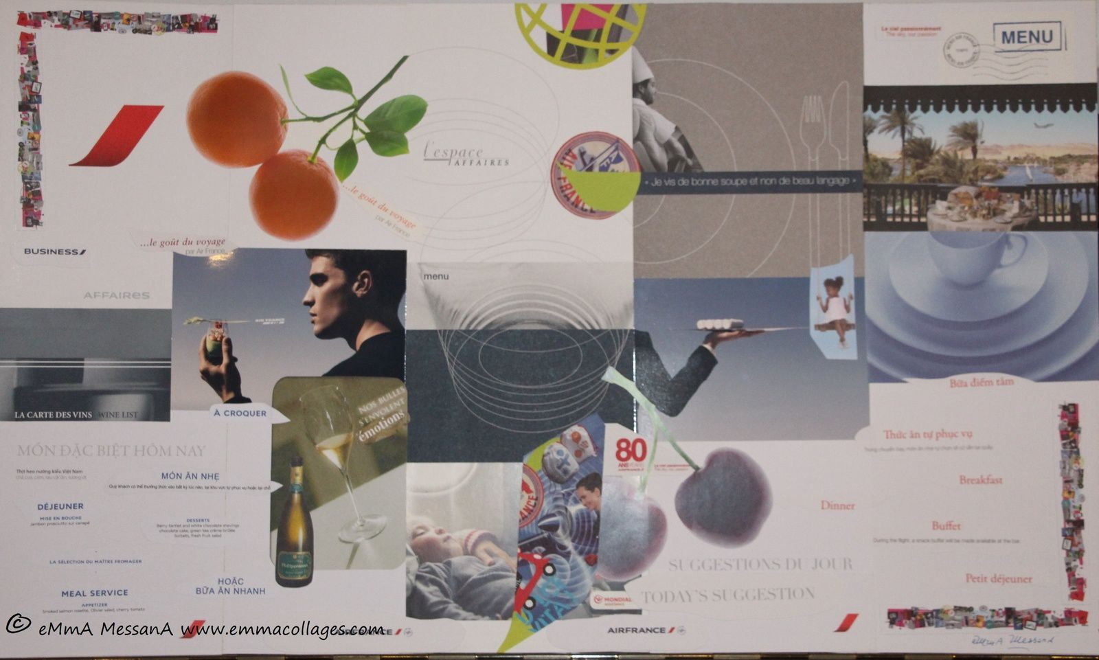 """Les Collages d'eMmA MessanA, collage N°448 """"Cuisine & Altitude"""", exemplaire unique © eMmA MessanA"""