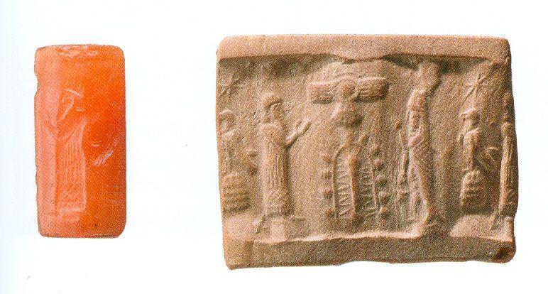 Les sceaux cylindres de Mésopotamie