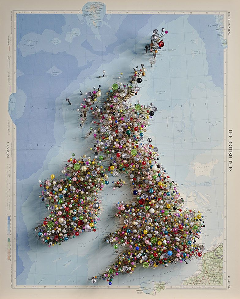 """Fetish map of the British Isles"" - Chris Kenny"
