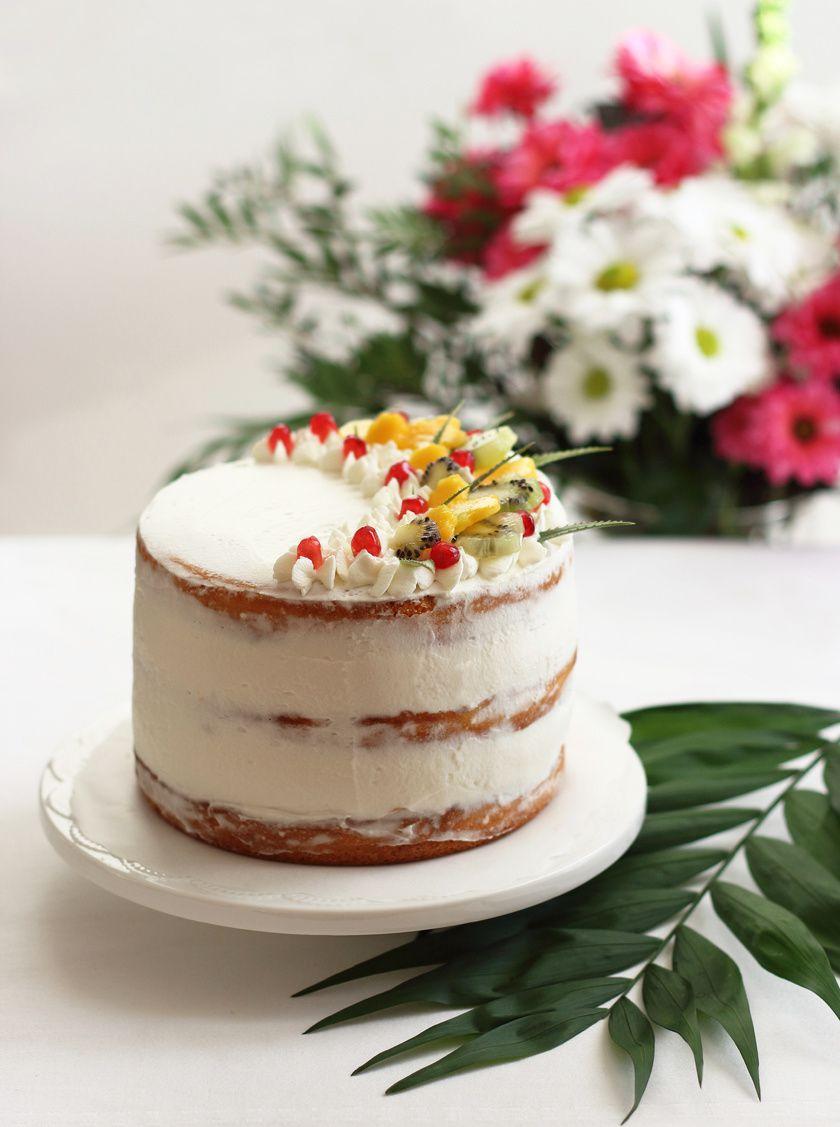 Layer cake aux fruits exotiques & sa crème coco pour les fêtes