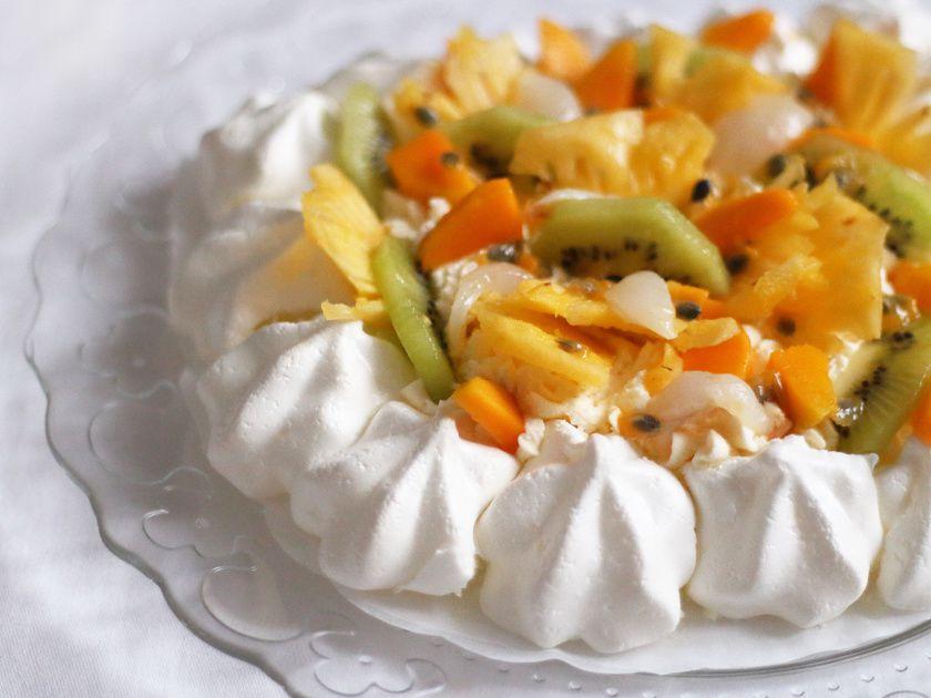 Pavlova aux fruits exotiques, mon dessert pour les fêtes