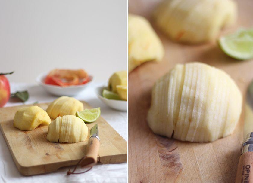 Tarte rustique aux pommes & sa sauce au caramel beurre salé