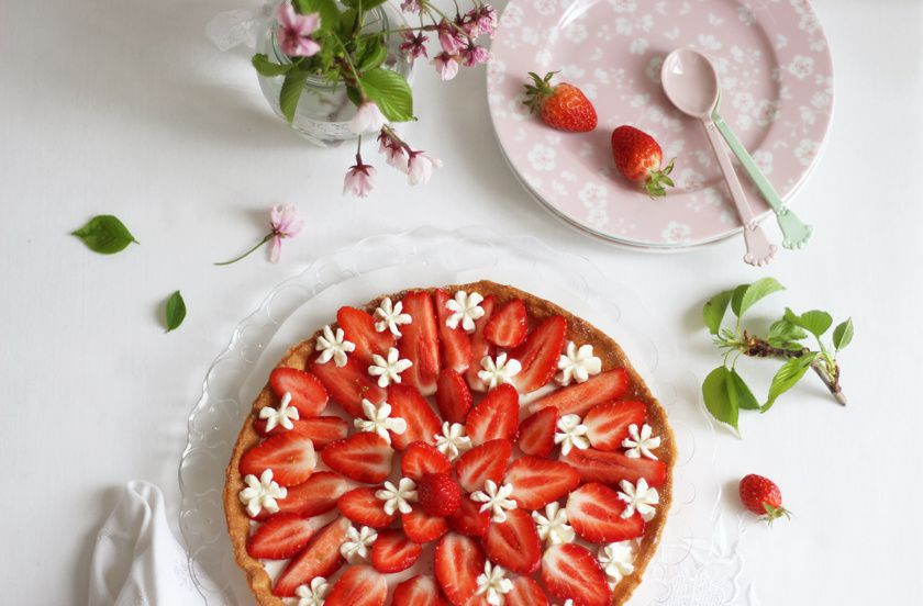 Tarte aux fraises à la crème mascarpone-chantilly