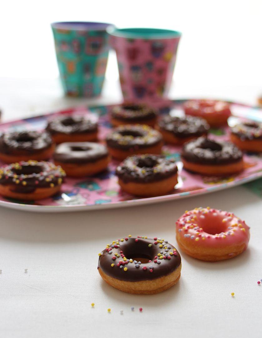 Mini donuts au chocolat sans machine & sans robot