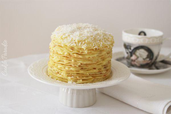 Gâteau de crêpes à la coco-vanille - 'kokonattsu-vanilla miru crepu'