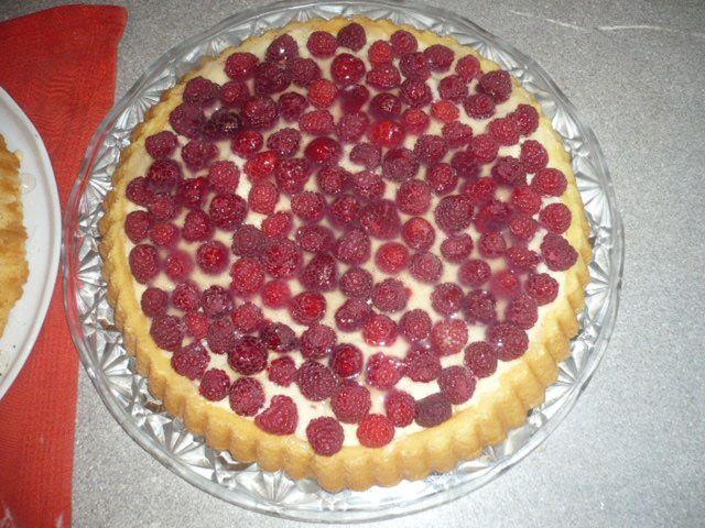 Tarte aux framboises ou fraises