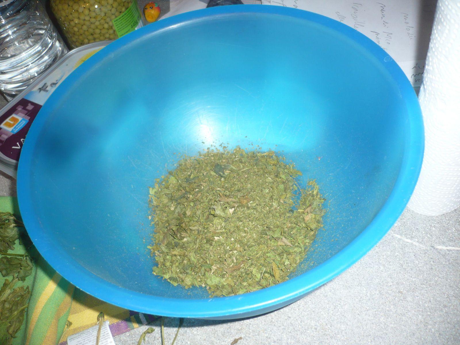 Cette année, j'ai fait de la poudre de céleri à la place du sel de céleri :