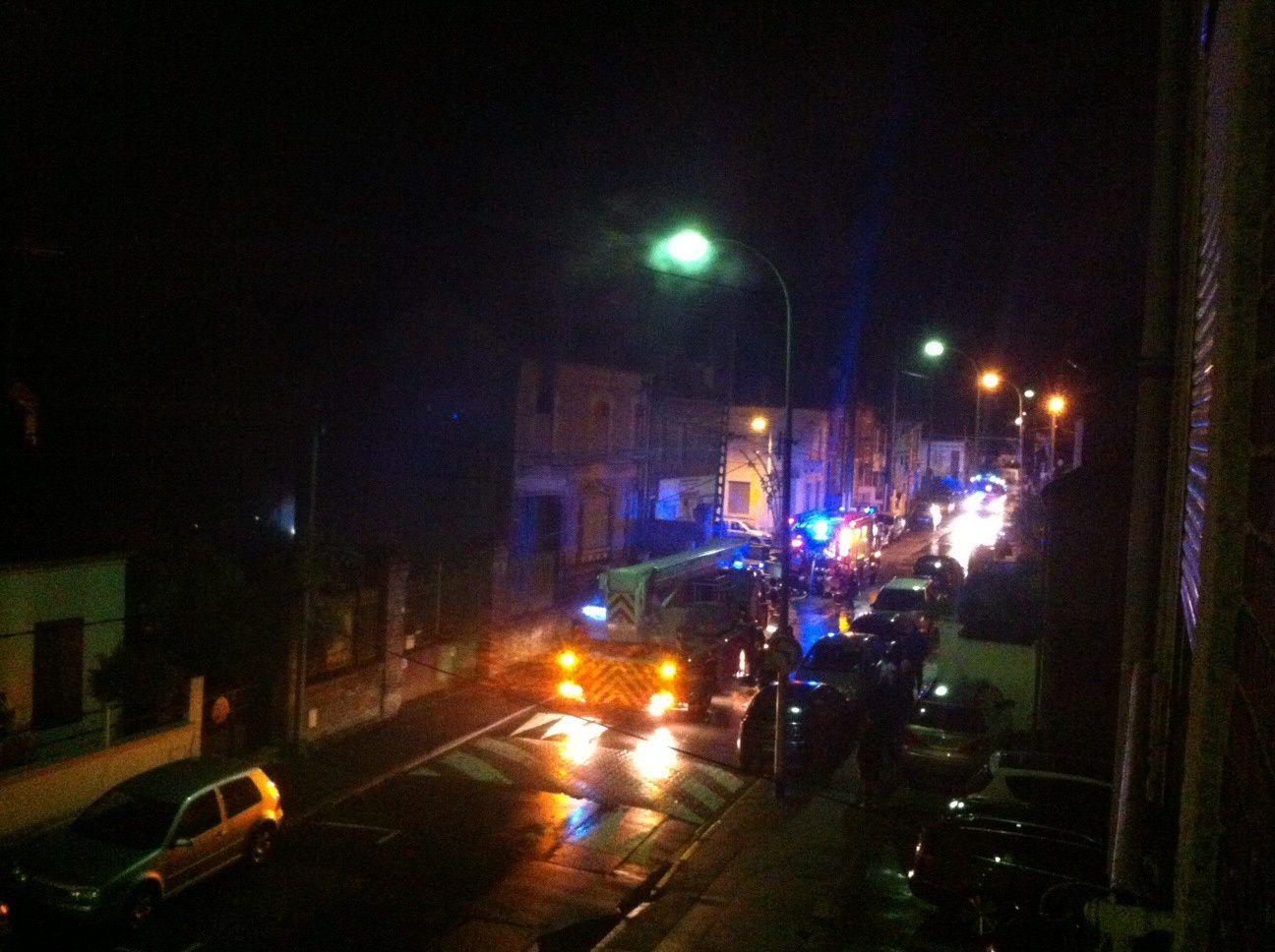 Intervention des pompiers rue de Gournay à Creil ce 22 octobre