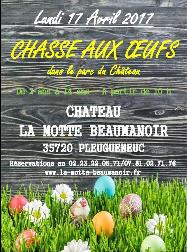 Chasse aux oeufs au Château de la Motte Beaumanoir