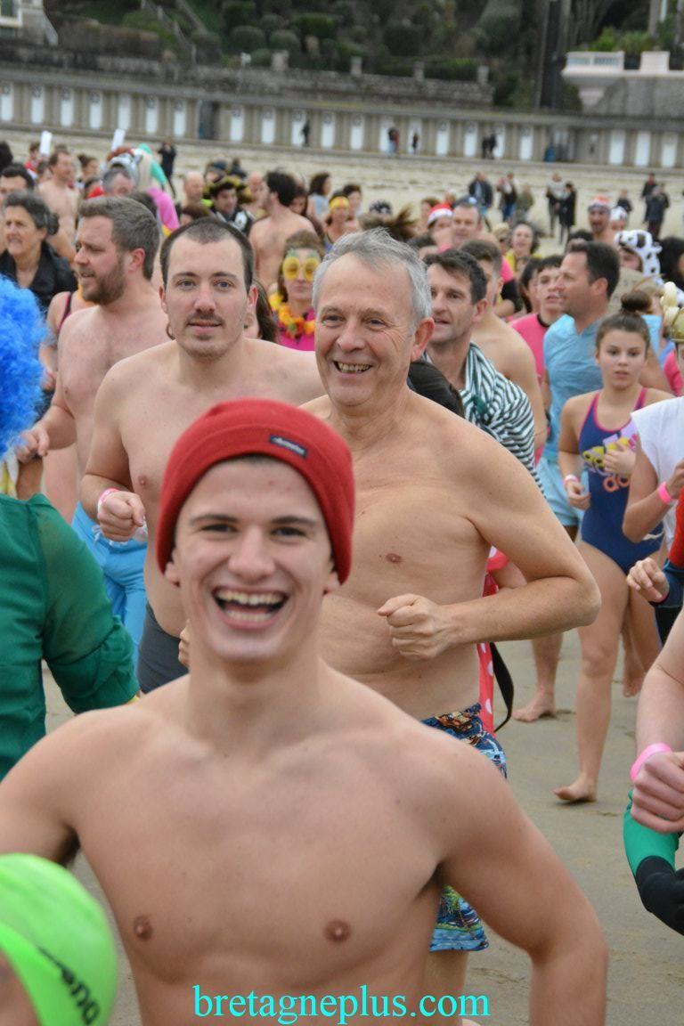 Dernier bain de l' année Dinard 2017