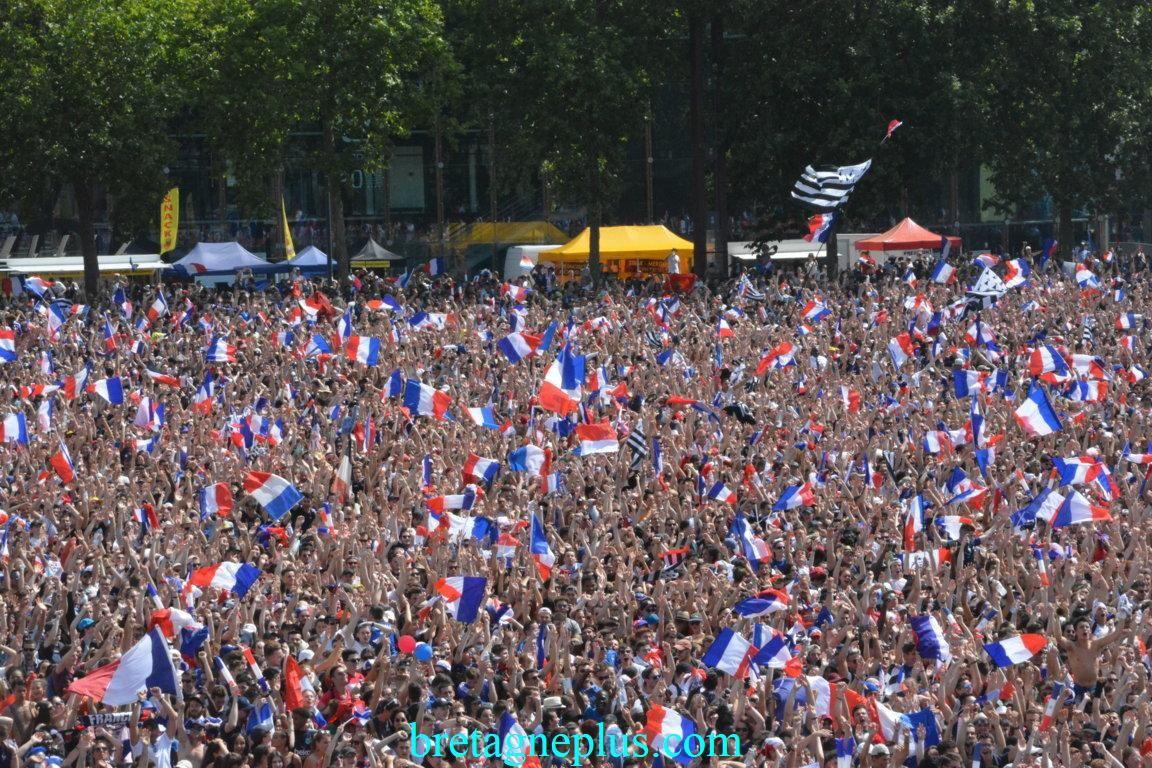Ambiance retransmission finale Russia 2018 à Rennes