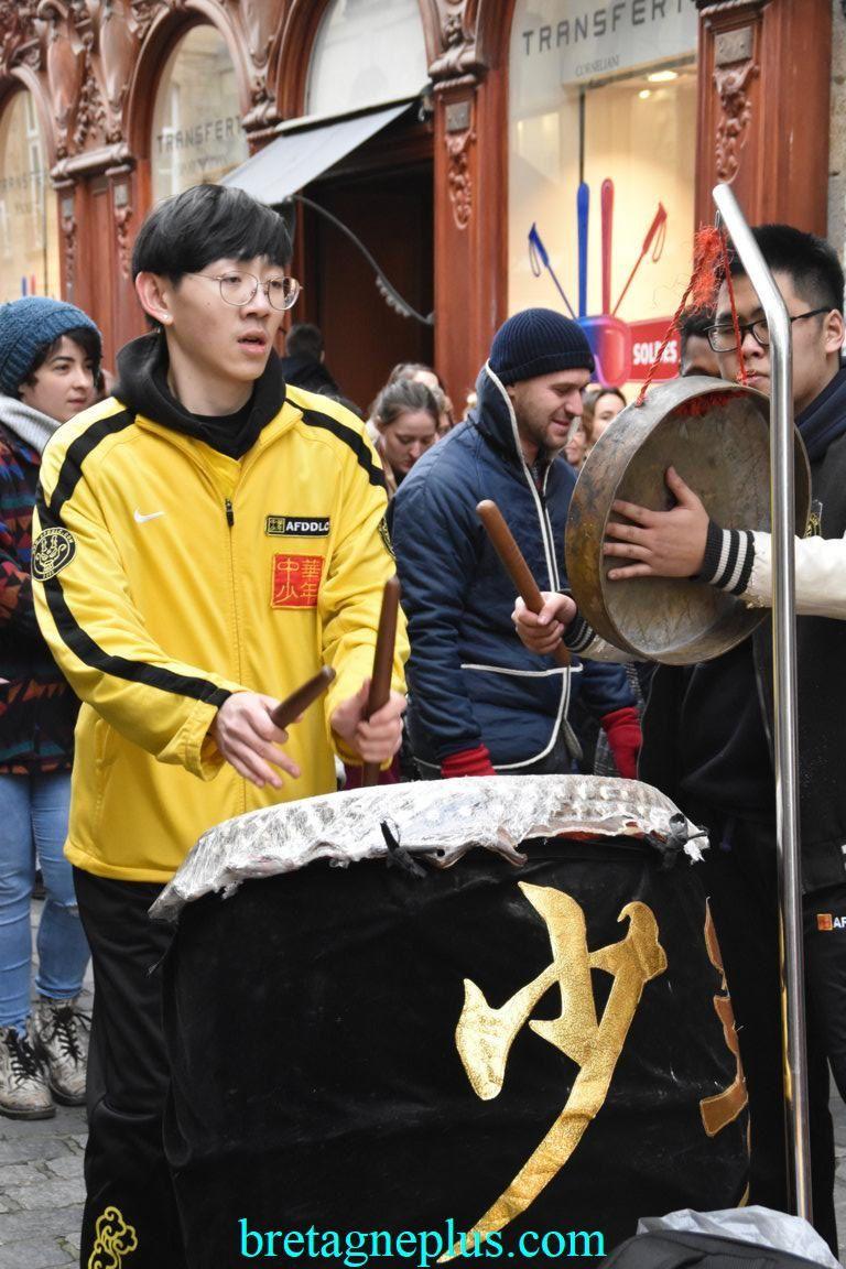 Défilé du nouvel an chinois Rennes 2019