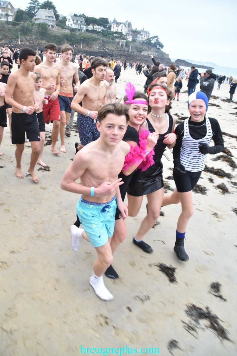 Dernier bain de l' année Dinard 2019