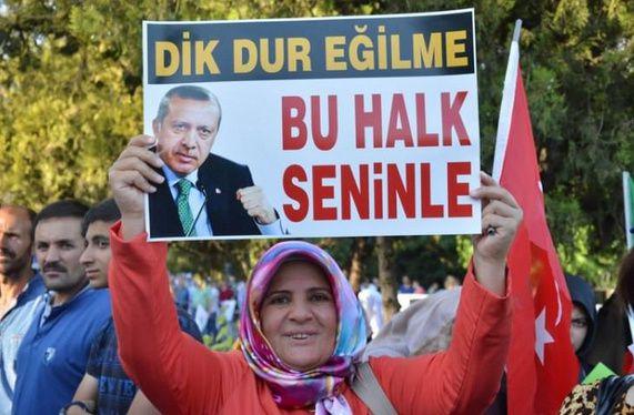 La manifestation des partisans d'Erdogan, 31 juillet 2016. Photo extraite du site takvim.org.tr