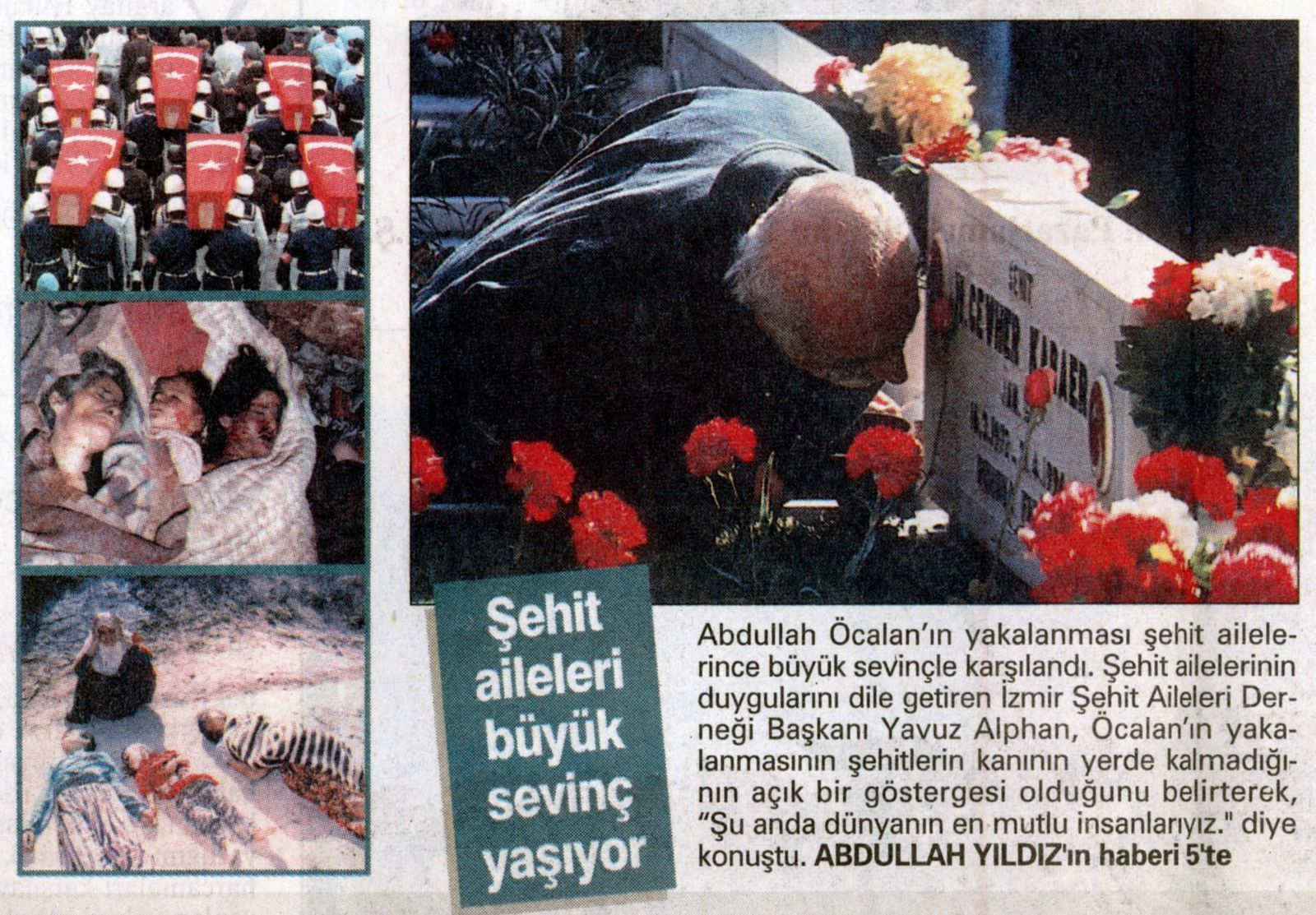 Photomontage publié par Zaman, 14 novembre 1998