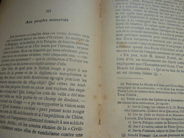 Retour sur la culpabilité: Freud, Romain Rolland