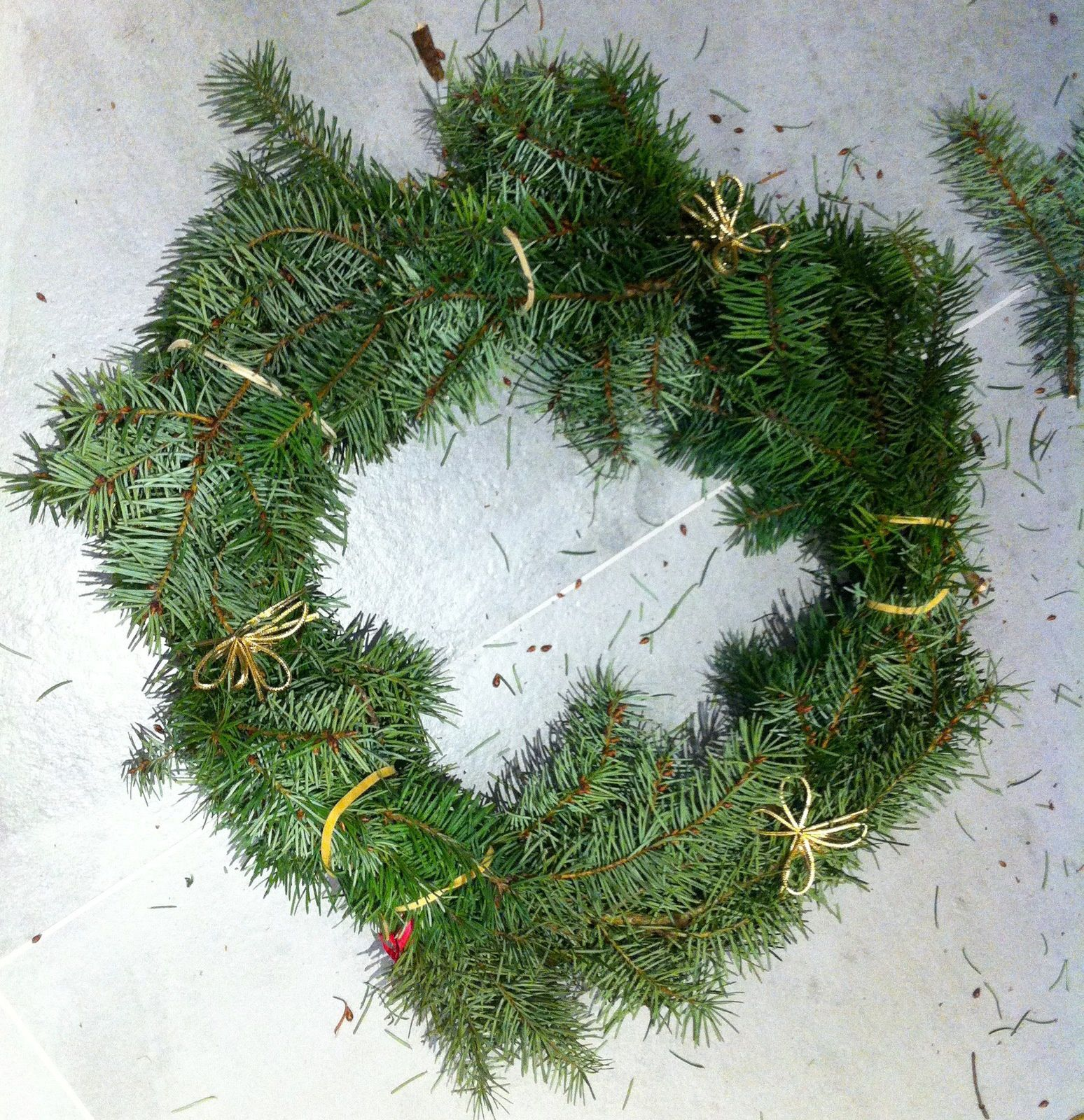 Couronne de Noël au naturel